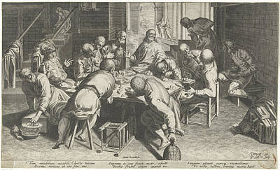 Last Supper, Aegidius Sadeler, Donato Rasciotti Poster by Quint Lox
