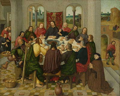 Last Supper, Circle Of Master Of The Amsterdam Death Poster by Litz Collection