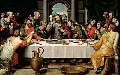 Poster featuring the digital art Last Supper by Vicente Juan Macip
