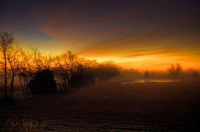 Late Autumn Sunrise Poster by Mark Alder