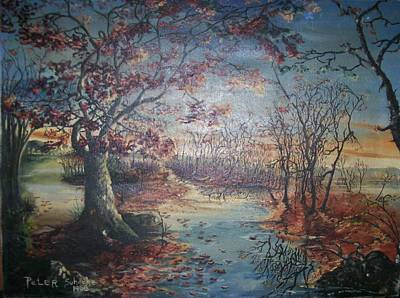 Poster featuring the painting Late Fall by Peter Suhocke