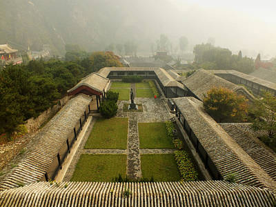 Poster featuring the photograph Late Morning Fog At The Great Wall  by Lucinda Walter