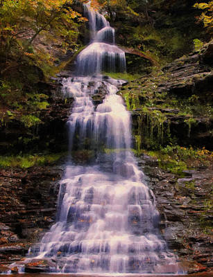 late summer Cathedral falls 2 Poster by Chris Flees