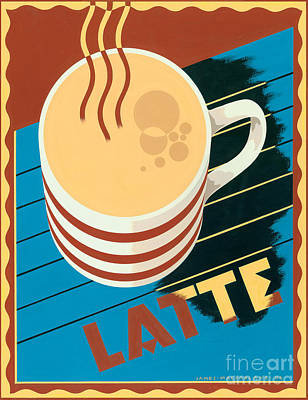 Latte Poster by Brian James