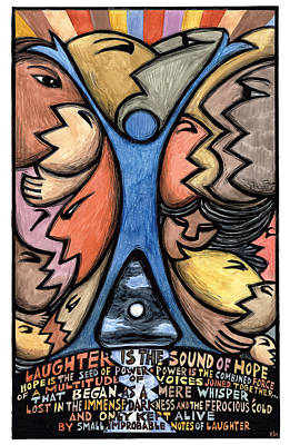 Laughter Is The Sound Of Hope Poster by Ricardo Levins Morales