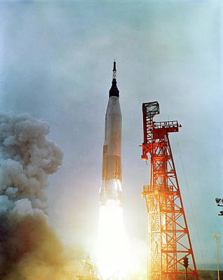 Launch Of Mercury-atlas 7 Poster by Nasa