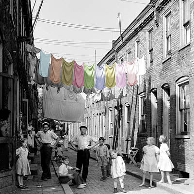 Laundry Day 2 Poster by Andrew Fare