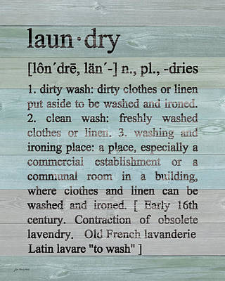 Laundry Defined Poster