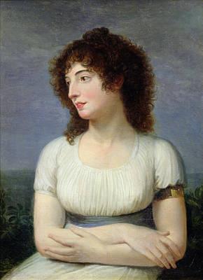 Laure De Guesnon De Bonneuil, Countess Regnaud De Saint-jean Dangely Oil On Canvas Poster by Andrea the Elder Appiani
