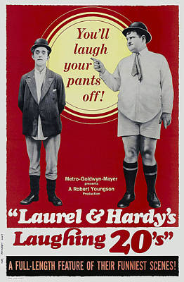 Laurel And Hardys Laughing 20s, L-r Poster