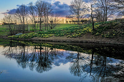 Laurel Ridge Reflections Poster by Thomas Schoeller