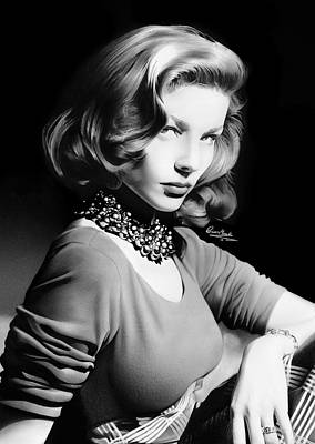 Lauren Bacall Poster by Liam  York