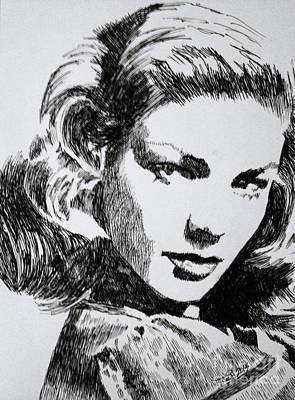 Lauren Bacall Poster by Robbi  Musser