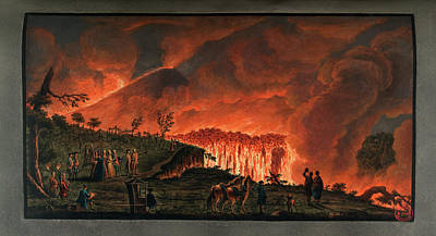 Lava Flow On Mt. Vesuvius Poster by British Library