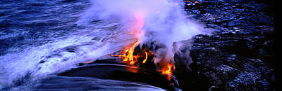 Lava Flowing From A Volcano, Kilauea Poster by Panoramic Images