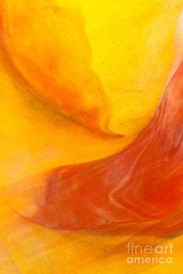Lava Swirl Glass Abstact Poster