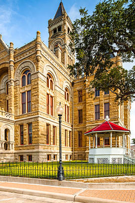 Lavaca County Courthouse - Hallettsville Texas Poster by Silvio Ligutti