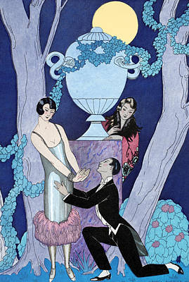 L'avarice Poster by Georges Barbier