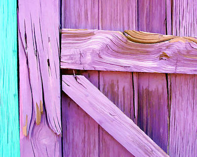 Lavender Abstract Painting II Poster by Jon William Lopez