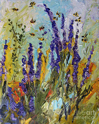 Lavender And Bees Provence Poster