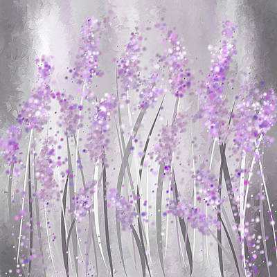 Lavender Art Poster by Lourry Legarde