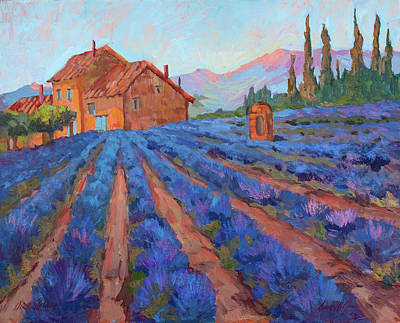 Lavender Field Provence Poster by Diane McClary