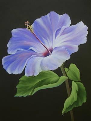 Lavender Hibiscus Poster