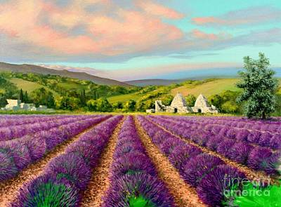 Lavender II Poster by Michael Swanson