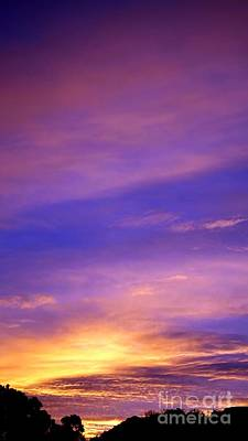Poster featuring the photograph Lavender Sunrise by Sue Halstenberg