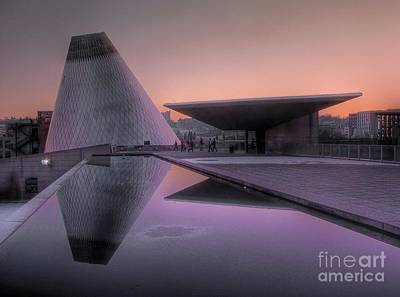 Poster featuring the photograph Lavender Twilight Cone by Chris Anderson