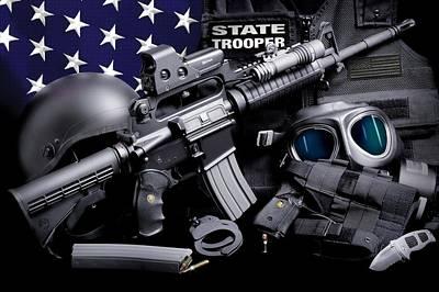 Law Enforcement Tactical Trooper Poster