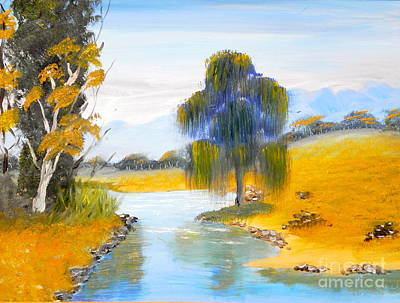 Poster featuring the painting Lawson River by Pamela  Meredith