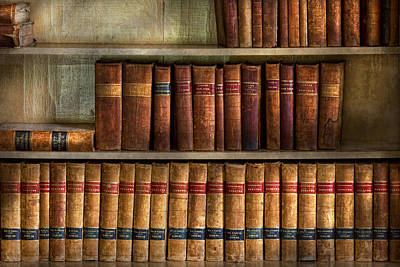 Lawyer - Books - Law Books  Poster by Mike Savad