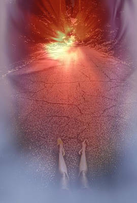 Laying On The Road Of Imagination Poster