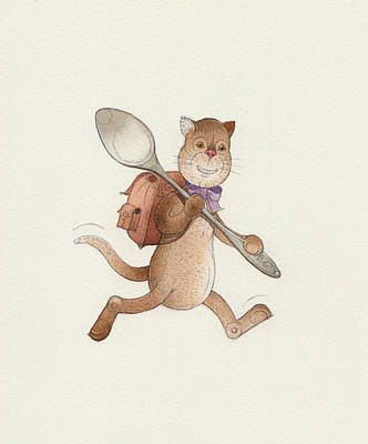 Lazy Cats06 Poster by Kestutis Kasparavicius