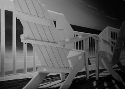 Lazy Chairs In Black And White Poster by Rob Hans
