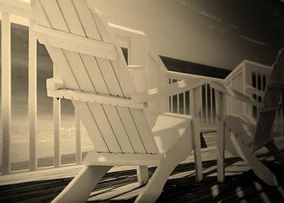 Lazy Chairs In Sepia Poster by Rob Hans