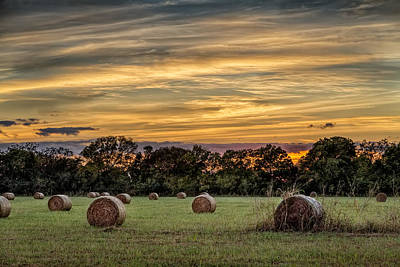 Lazy Hay Bales Poster