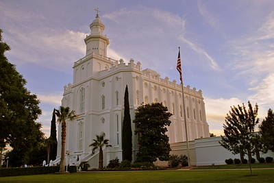 Lds Temple St George Utah Poster by Nathan Abbott