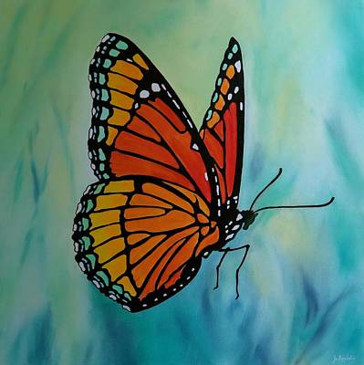 Le Beau Papillon Poster by Jo Appleby