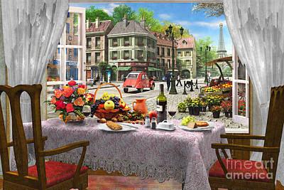 Le Cafe Paris Poster by Dominic Davison