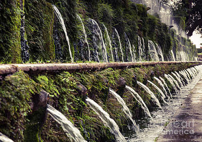 Le Cento Fontane The Hundred Fountains  At Villa D'este Gardenst Poster