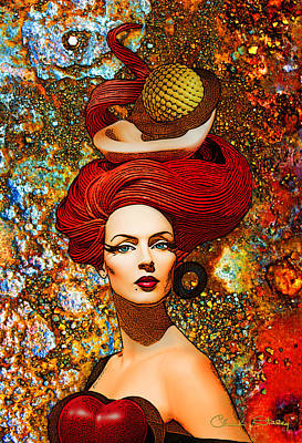 Le Cheveux Rouges Poster by Chuck Staley