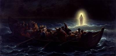 Le Christ Marchant Sur La Mer Poster