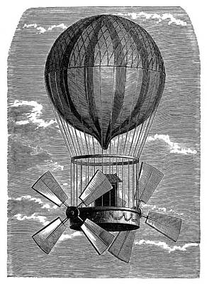 'le Comte D'artois' Balloon Poster by Science Photo Library