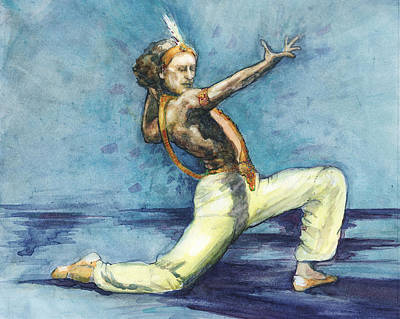 Poster featuring the painting Le Corsaire by Lora Serra