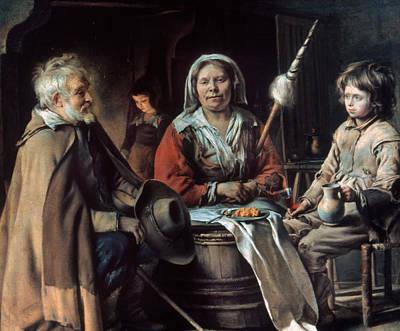 Le Nain Peasant Home Poster