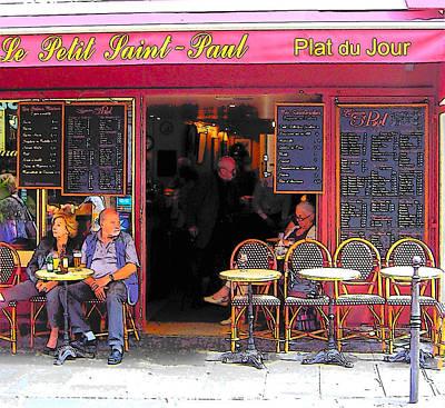 Le Petit Saint-paul In Paris Poster by Jan Matson