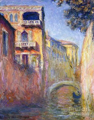 Le Rio De La Salute Poster by Claude Monet
