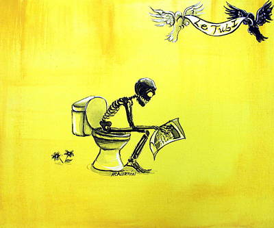 Le Tub I Poster by Heather Calderon